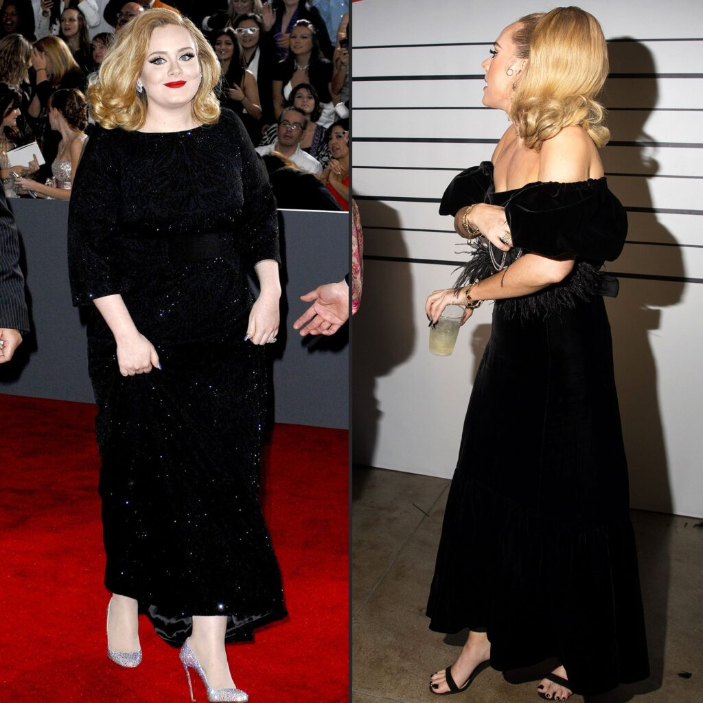 Adele's weight loss transformation